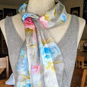 Accessories - 💙 Blue & Pink Roses Scarf #hundredsofscarves